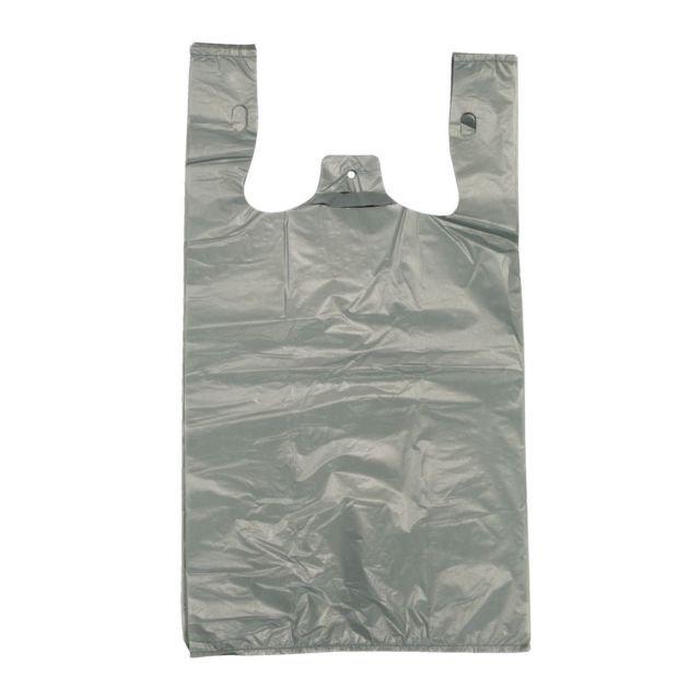 1000 x Large GREY Plastic bags BIN LINERS Shopping T Shirt Singlet Supermarket | eBay