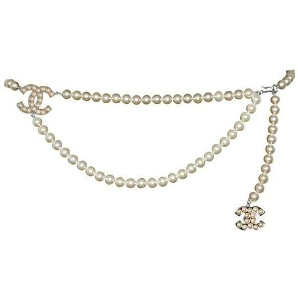 chanel pearl belt