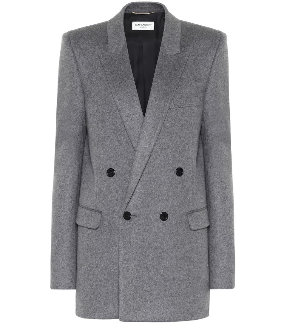 Saint Laurent - Wool and cashmere blazer   Mytheresa