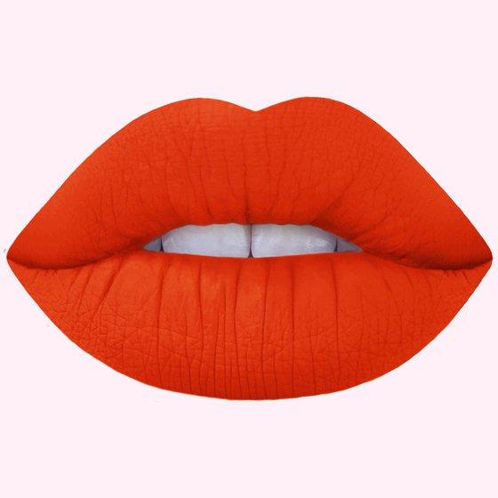 Psycho: Bright Orange Matte Velvetines Vegan Lipstick - Lime Crime
