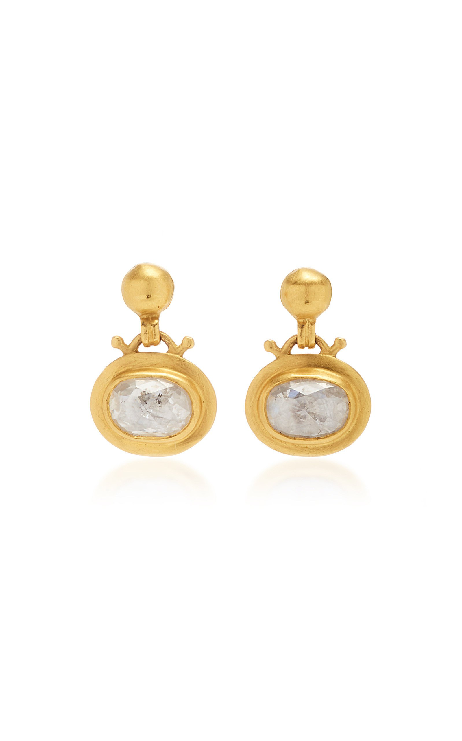Prounis Small Diamond Bell Earrings