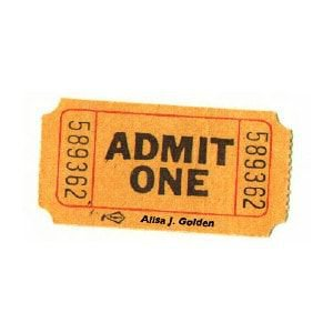 admit one movie ticket