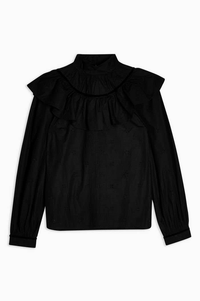 Black Yoke Pintuck Blouse | Topshop black