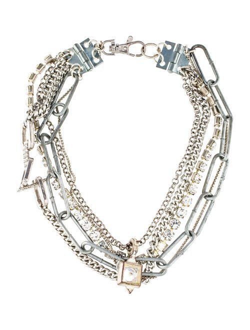 Giles & Brother Crystal Multistrand Necklace - Necklaces - WGI20913 | The RealReal