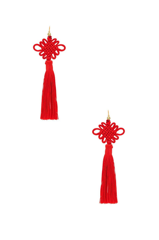 The Chinese Good Luck Tassel Earrings