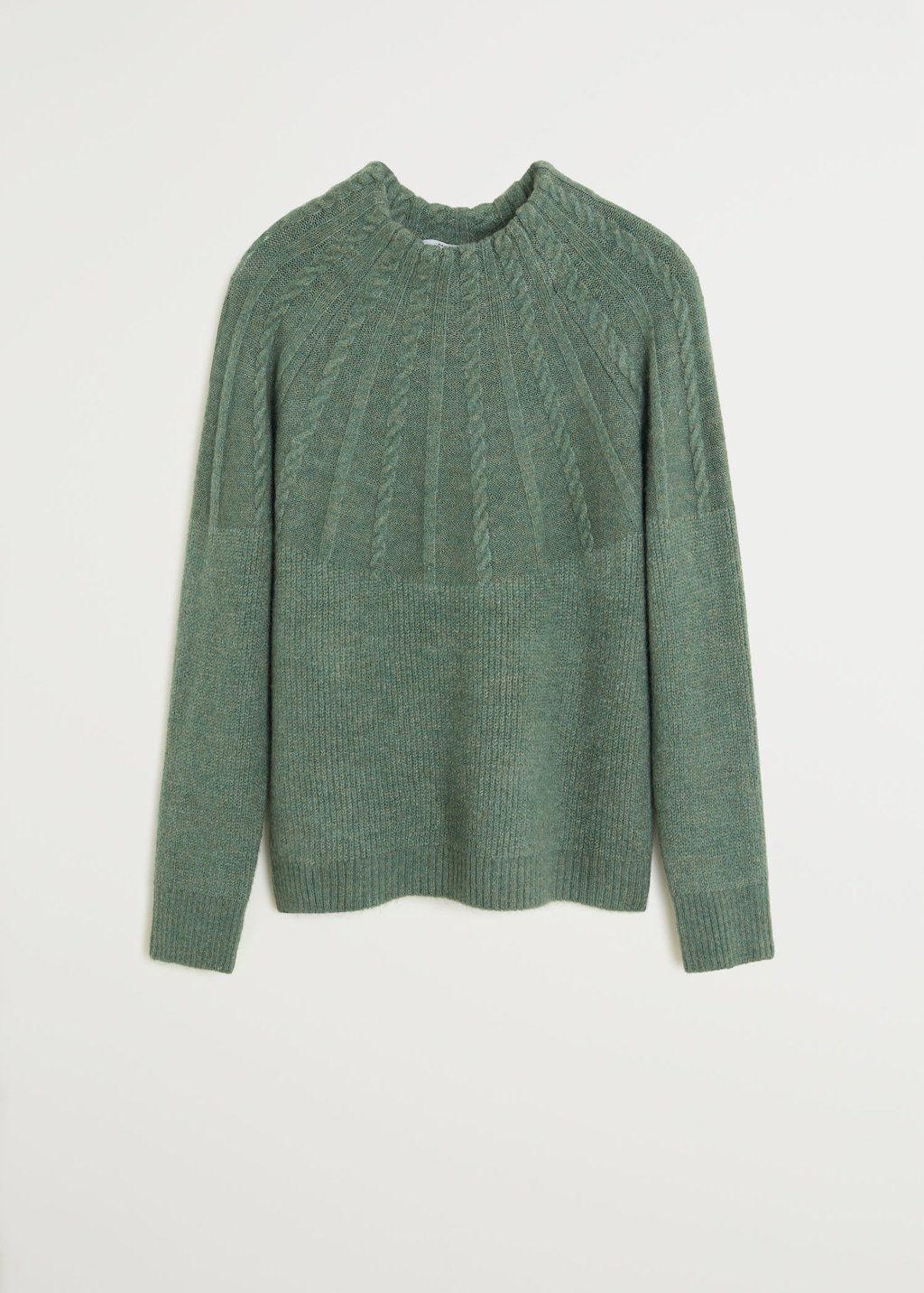 Contrasting knit sweater - Women   Mango USA