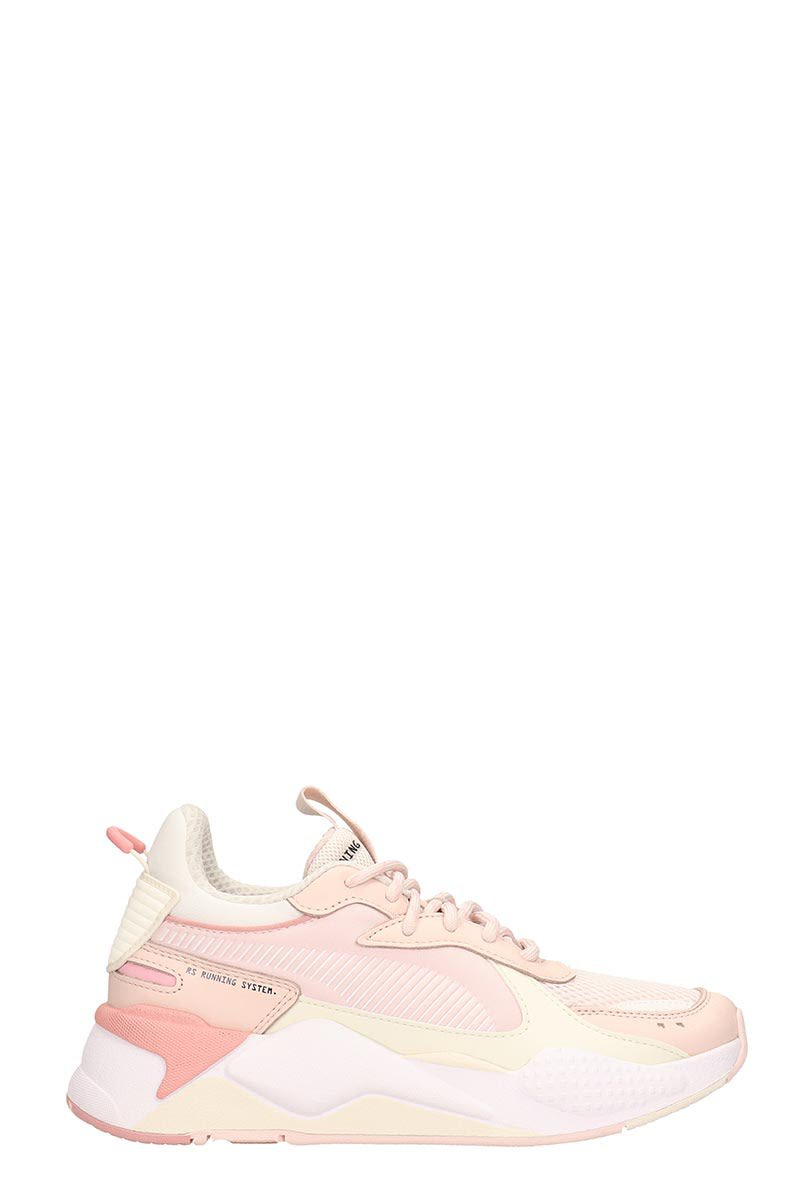 Puma Pink Technical Fabric Sneakers Rs-x Track