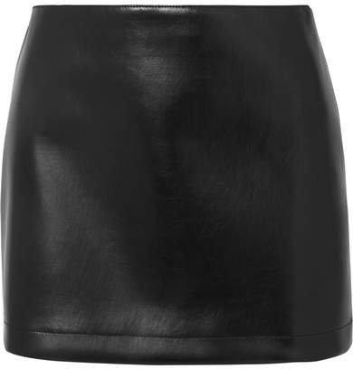Faux Leather Mini Skirt - Black