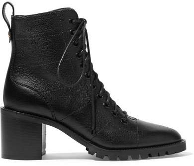 Cruz 65 Textured-leather Ankle Boots - Black