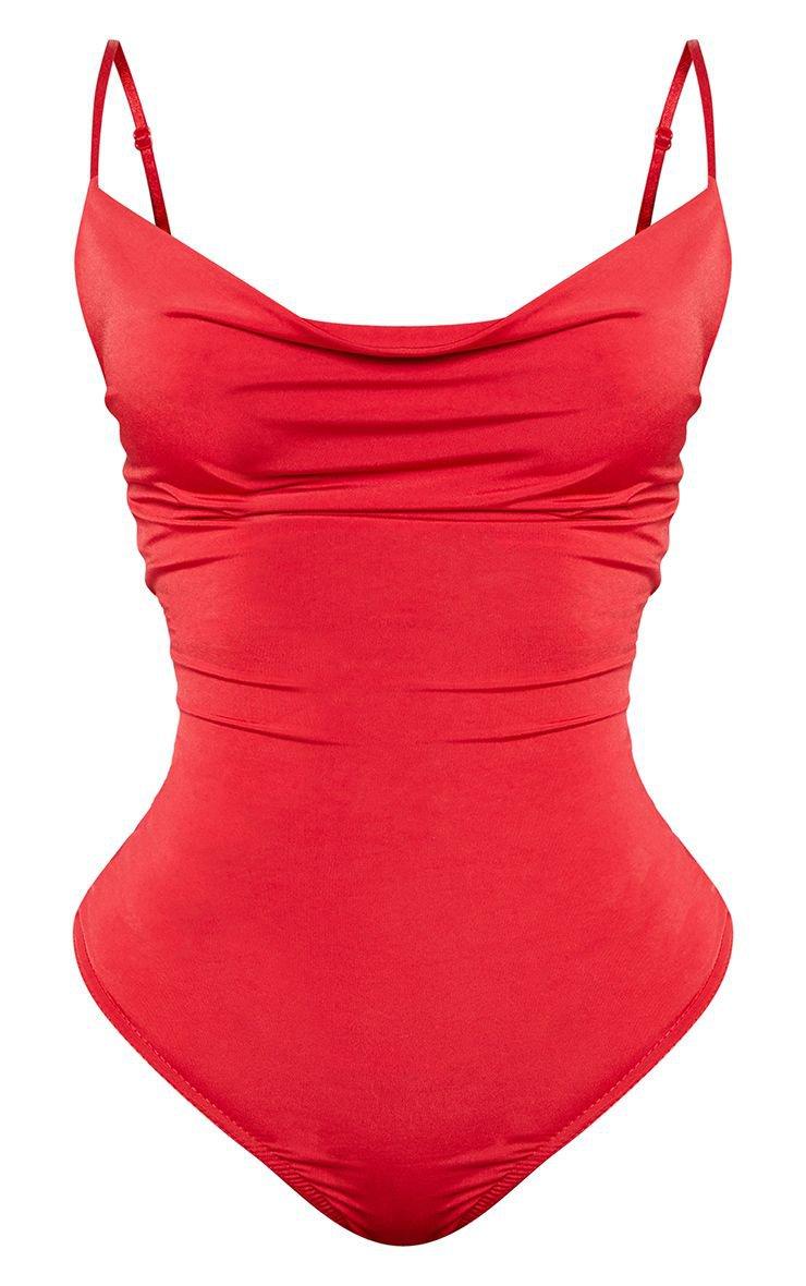 Shape Red Bodysuit | Curve | PrettyLittleThing