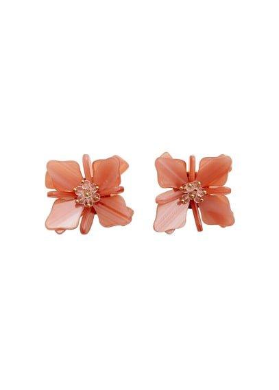 MANGO Flower beaded earrings