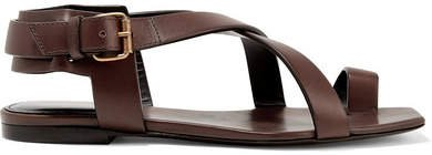 Hiandra Leather Sandals - Dark brown