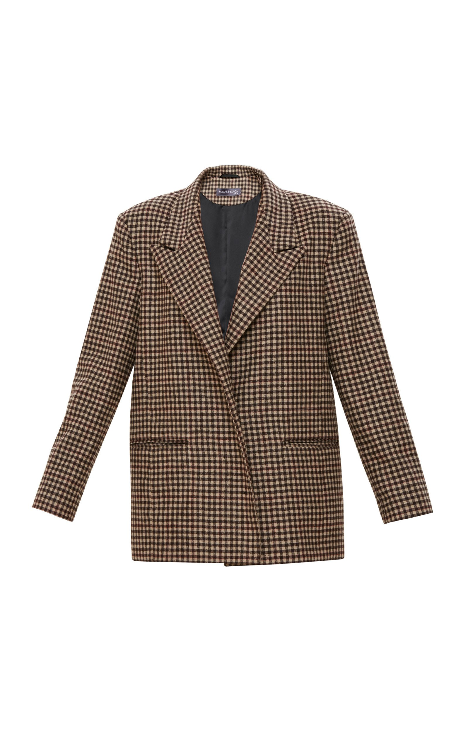 Mach & Mach Brown Colored Check Blazer