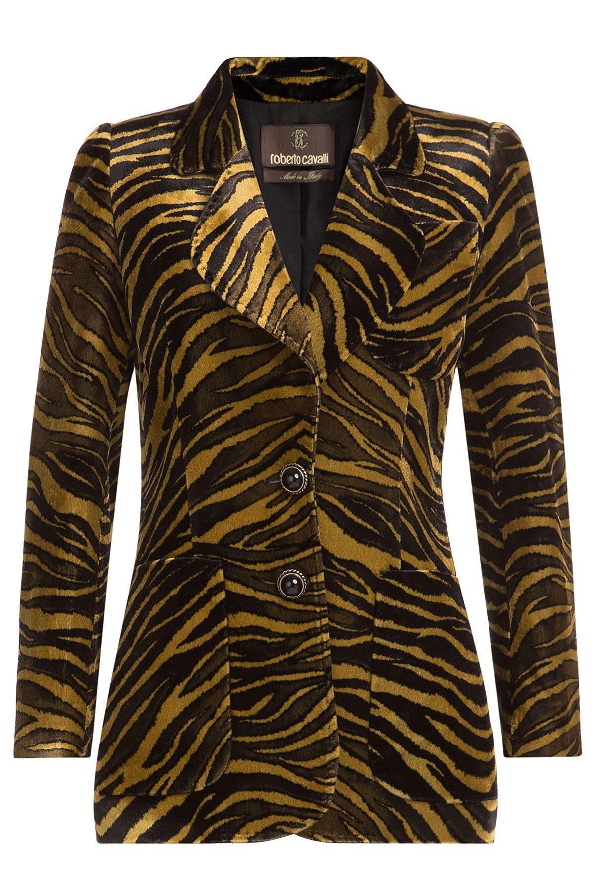 Animal Print Velvet blazer Gr. IT 40