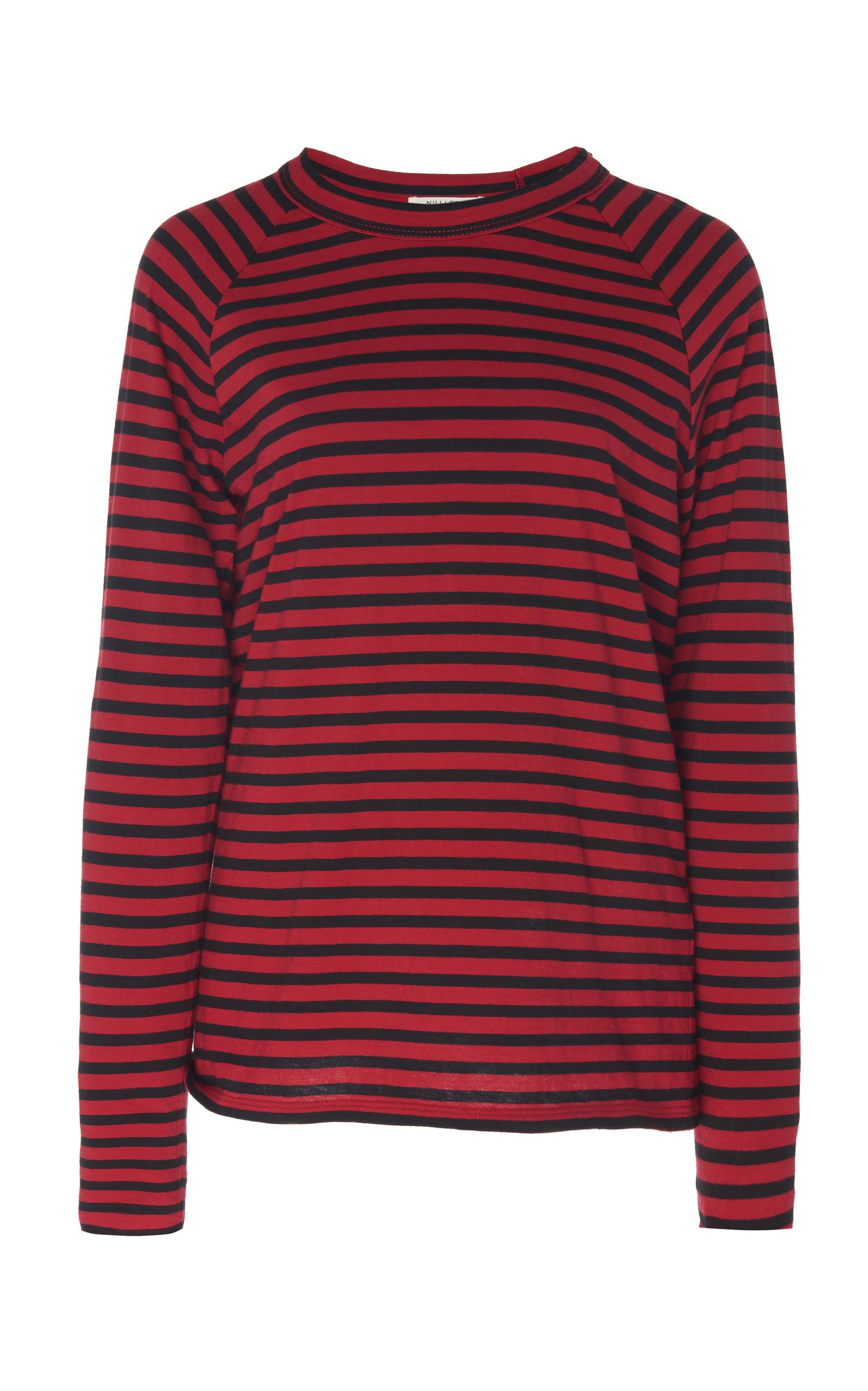 Striped Baseball Cotton T-Shirt by NILI LOTAN | Moda Operandi