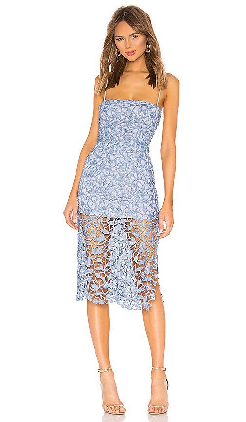 NBD Fallon Midi Dress in Soft Blue   REVOLVE