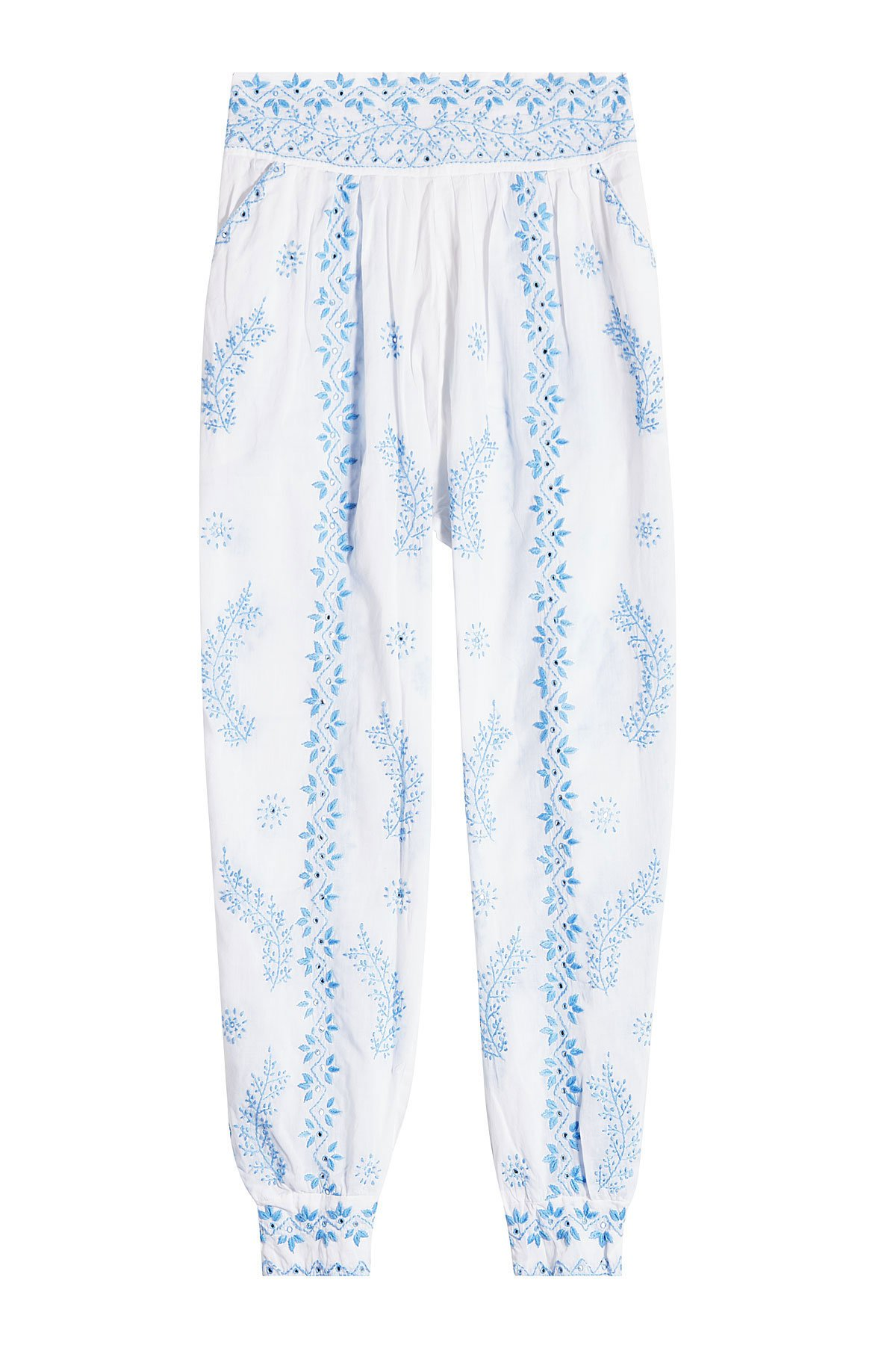 Embroidered Cotton Pants Gr. 2
