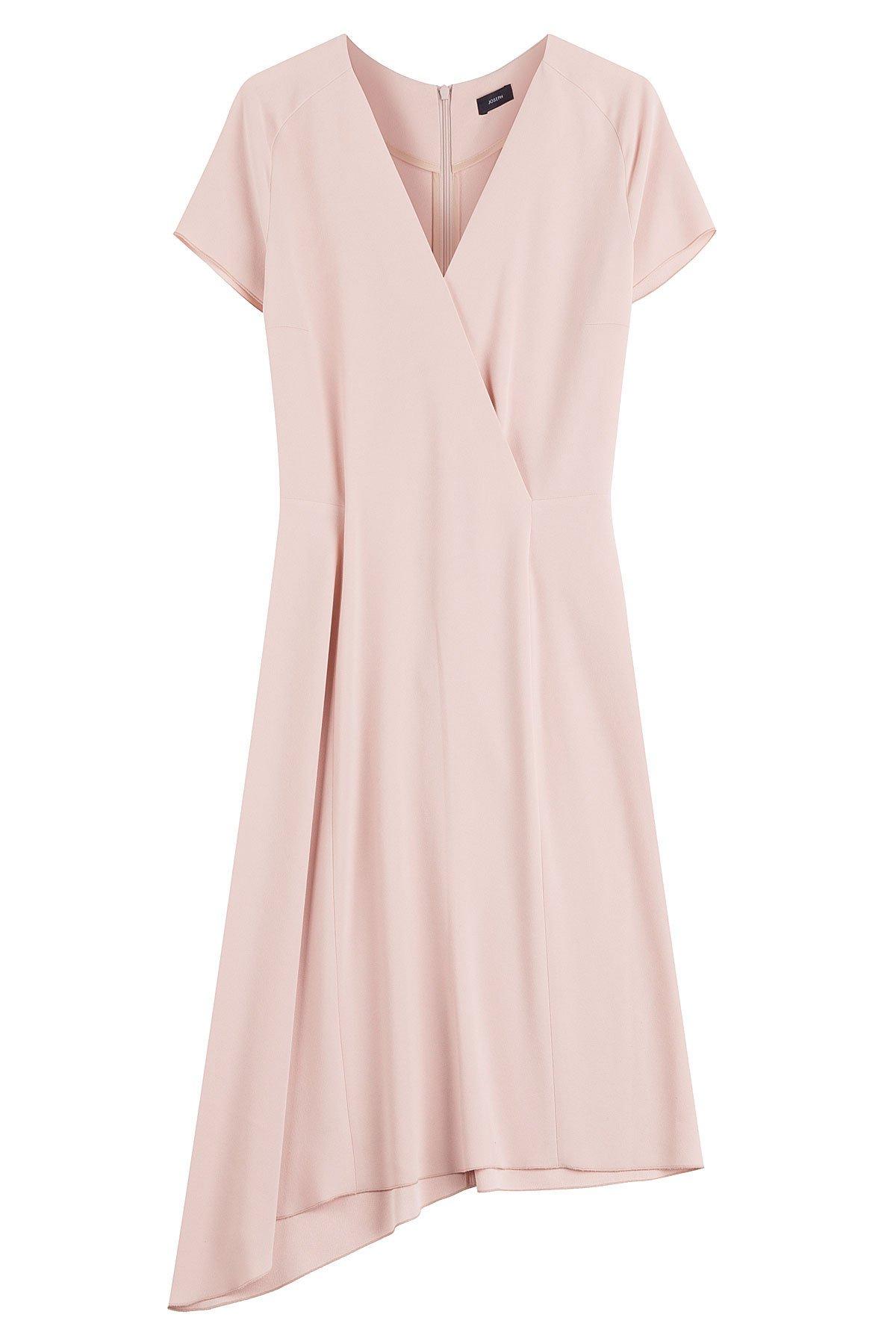 Draped Hem Crepe Dress Gr. FR 36
