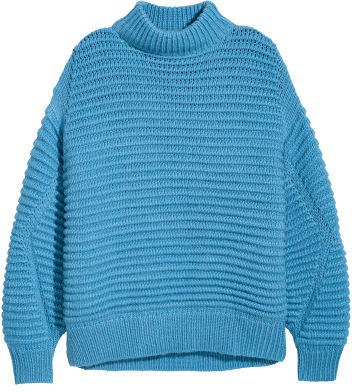 Knit Wool-blend Sweater - Blue