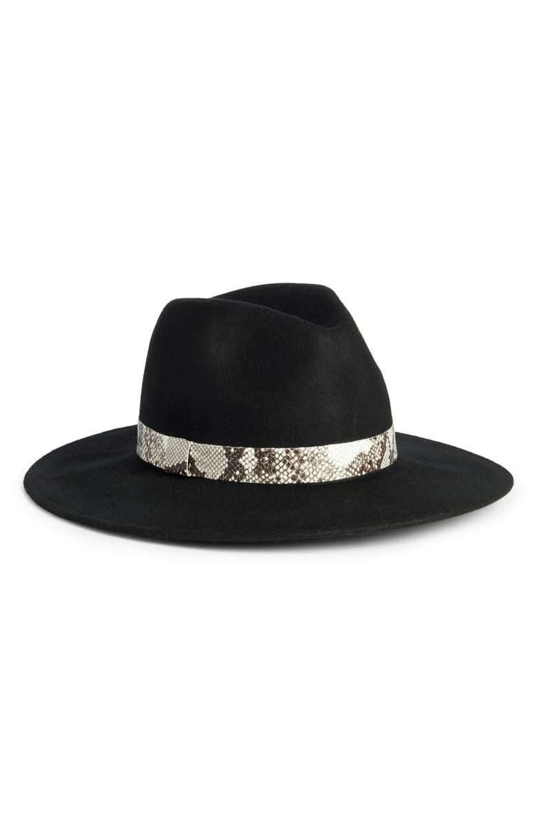 Treasure & Bond Snakeskin Trim Wool Panama Hat | Nordstrom