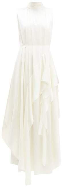 Corail Ruffled Silk Dress - Womens - Ivory