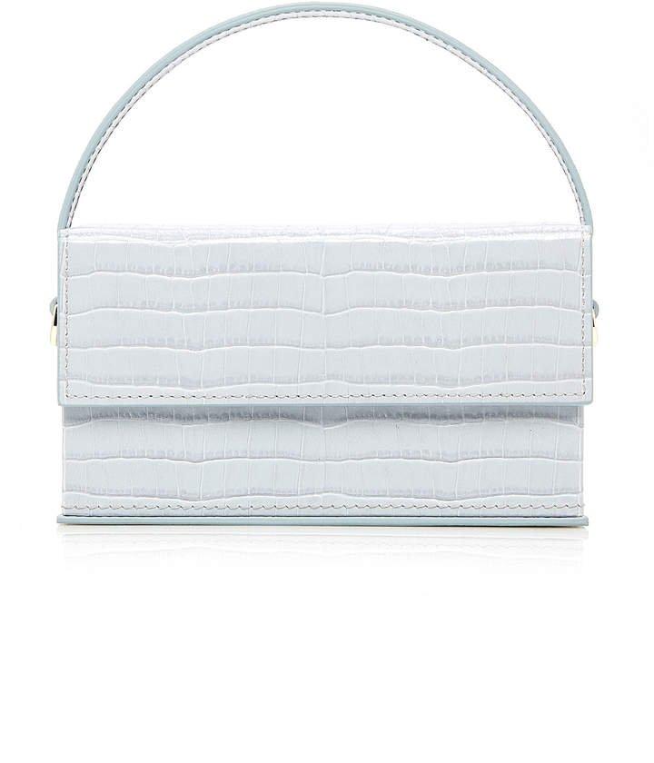 L'Afshar Ida Small Croc-Effect Leather Shoulder Bag