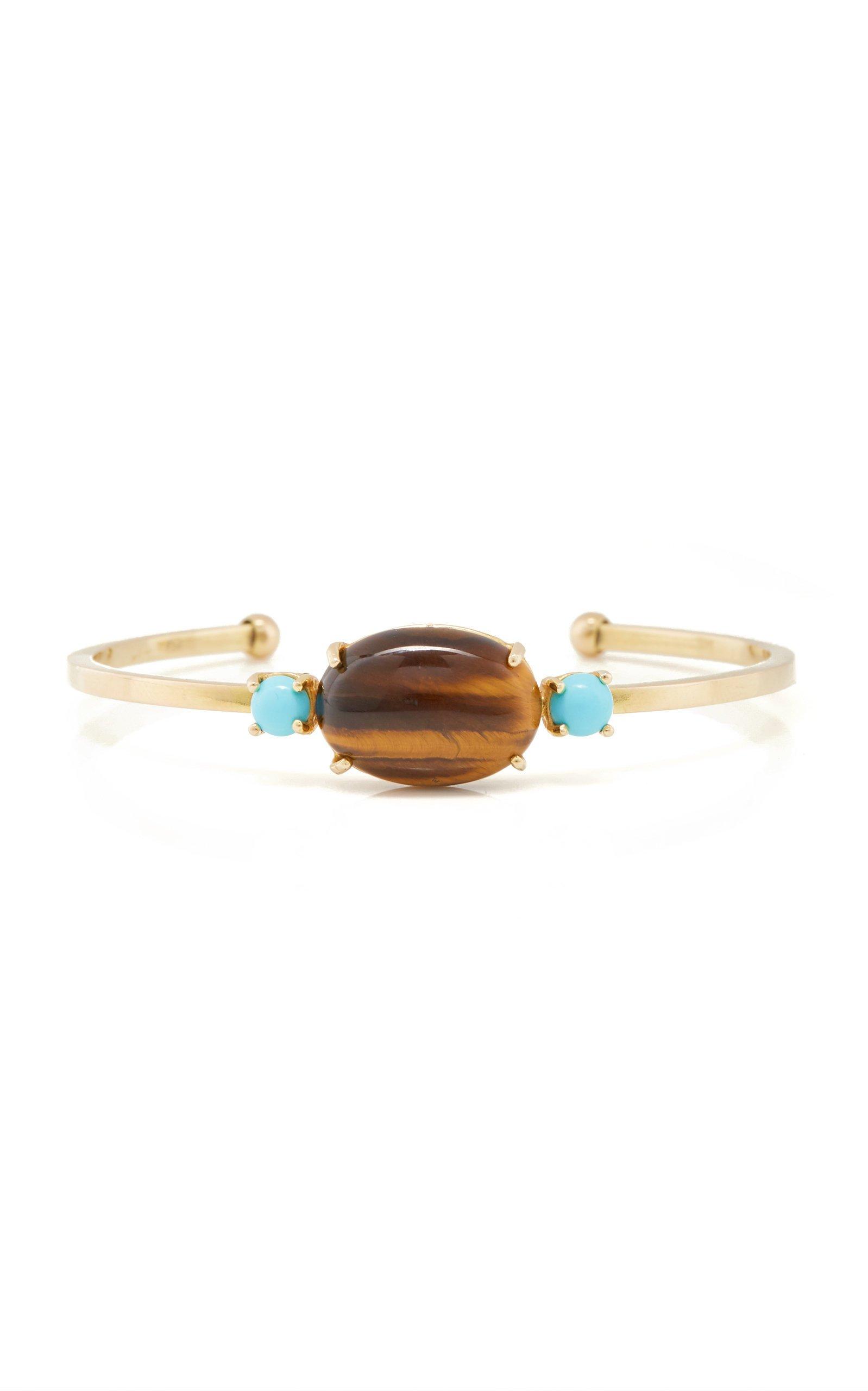 Grazia & Marica Vozza Bracelet Gold Cuff & Stone