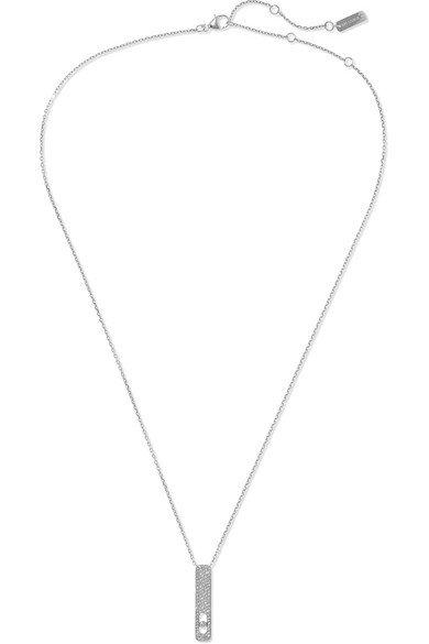 Messika | My First Diamond 18-karat white gold diamond necklace | NET-A-PORTER.COM