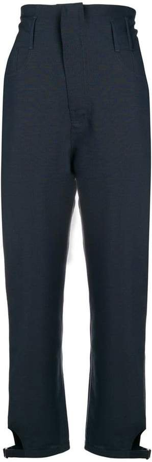 tapered high-waist trousers