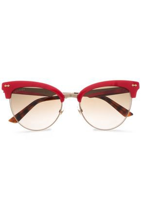 Clubmaster acetate and gold-tone sunglasses | GUCCI | Sale up to 70% off | THE OUTNET