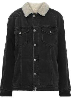 Le Sherpa Faux Shearling-lined Denim Jacket