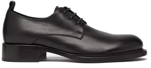 Leather Derby Shoes - Womens - Black