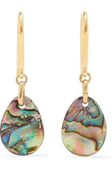 Isabel Marant | Gold-tone shell earrings | NET-A-PORTER.COM