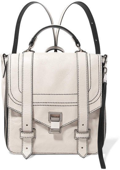 Ps1 Textured-leather Backpack - Cream