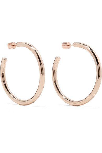Jennifer Fisher | Baby Lilly rose gold-plated hoop earrings | NET-A-PORTER.COM