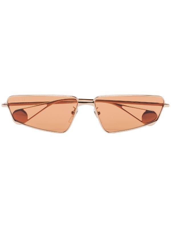 Gucci Eyewear Angled Frame Sunglasses - Farfetch