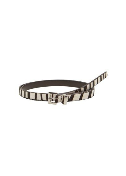 MANGO Animal print leather belt