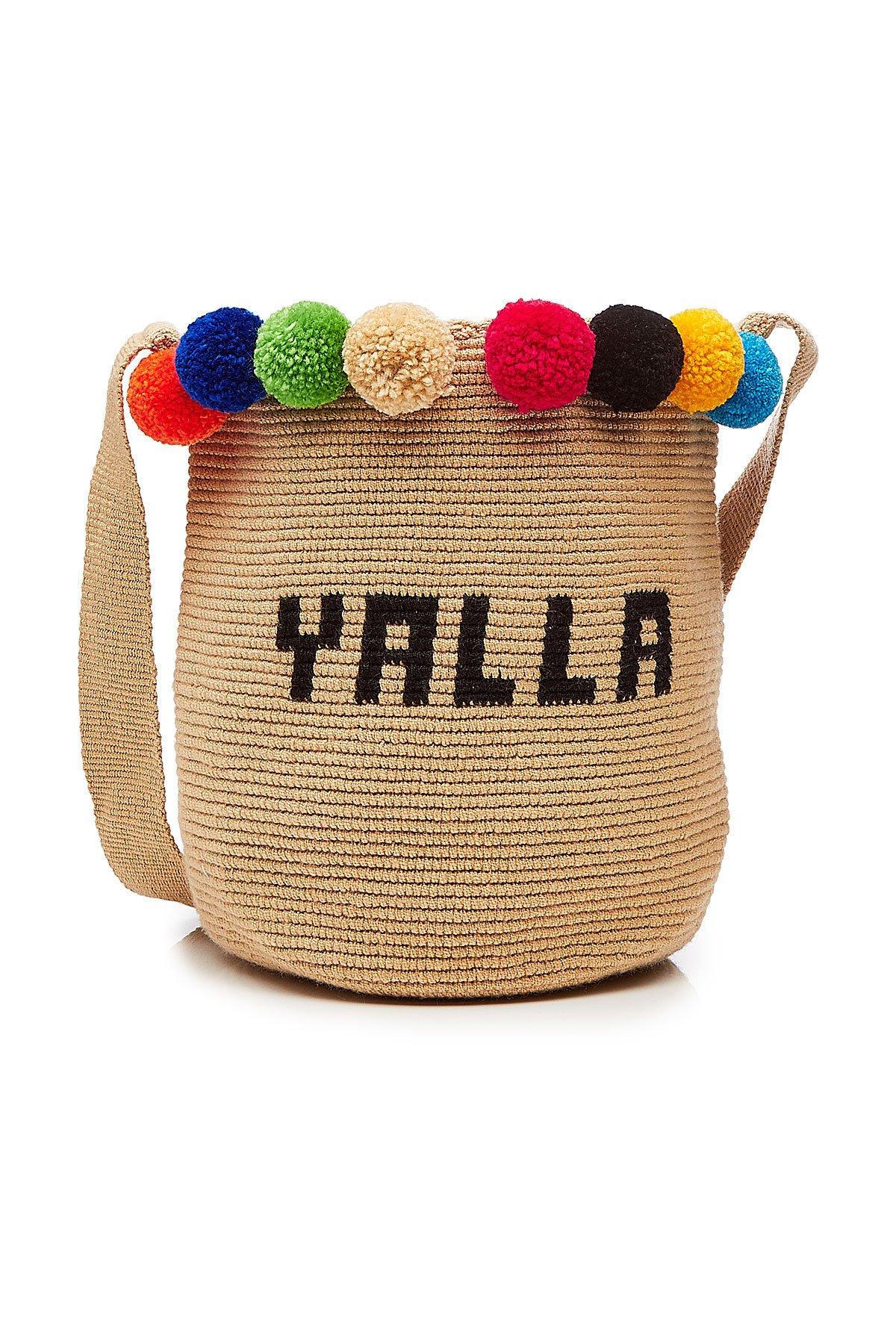 Yalla Woven Mochila Bucket Bag Gr. One Size
