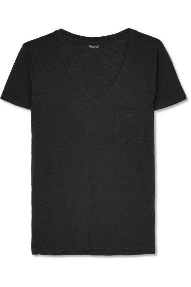 Madewell | Whisper T-Shirt aus Baumwoll-Jersey mit Flammgarneffekt | NET-A-PORTER.COM