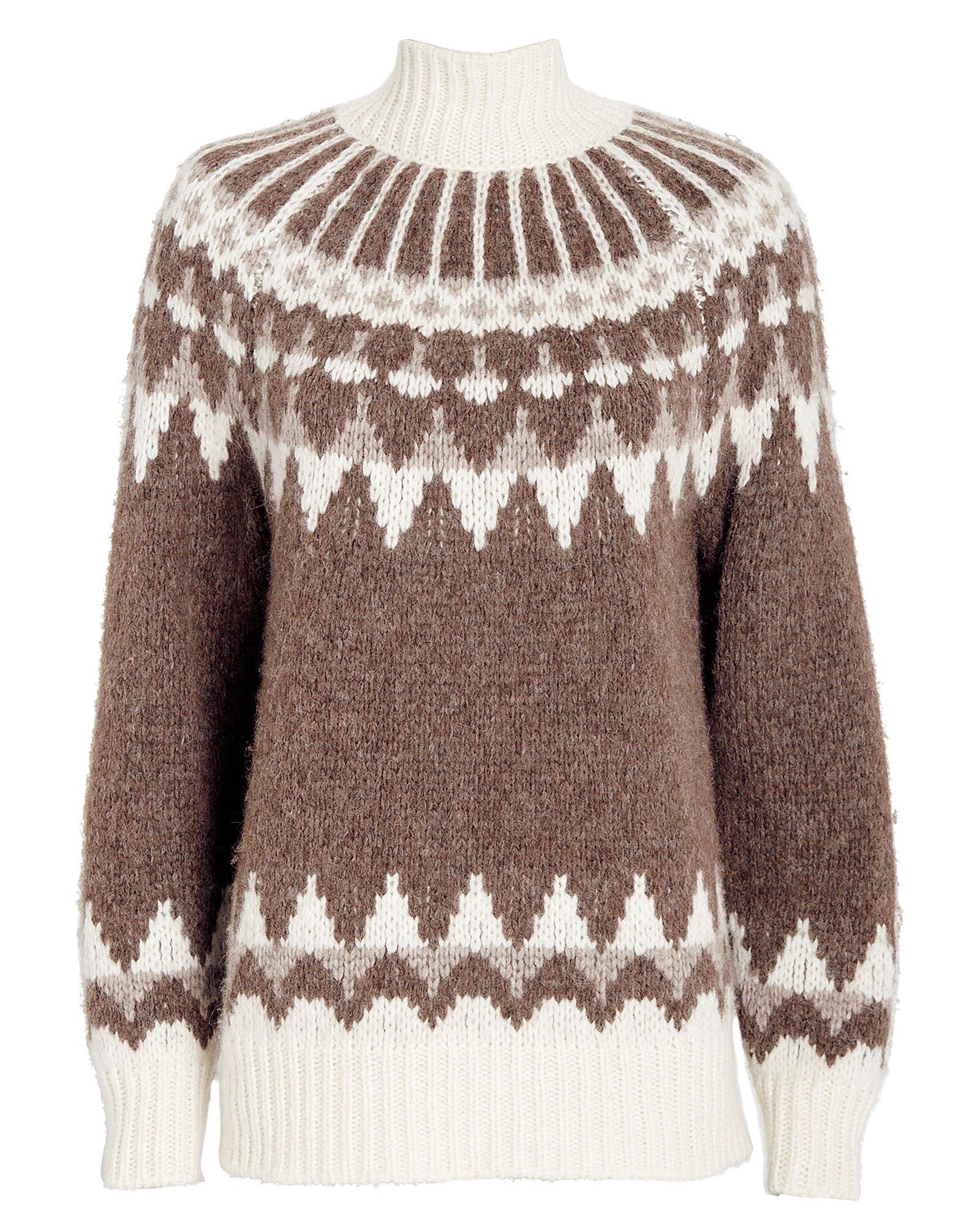 Fair Isle Intarsia Turtleneck Sweater