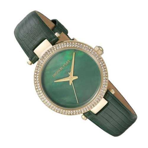 New Michael Kors MK2592 Parker Mini Crystal Green Leather 33mm Women's Watch 796483272248 | eBay