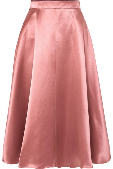 ROKSANDA Silk-satin midi skirt
