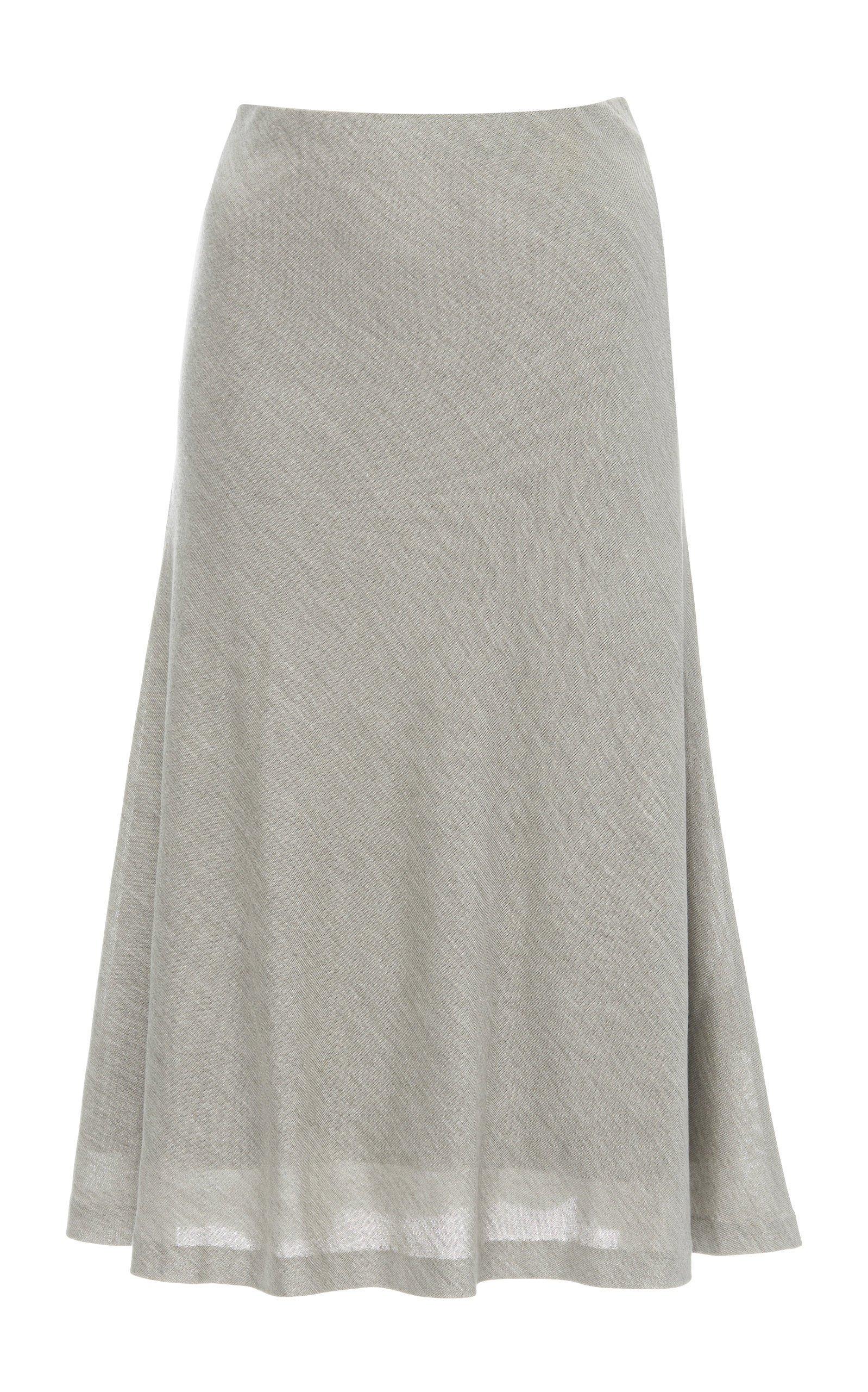 Ralph Lauren Bias High-Rise Silk Skirt