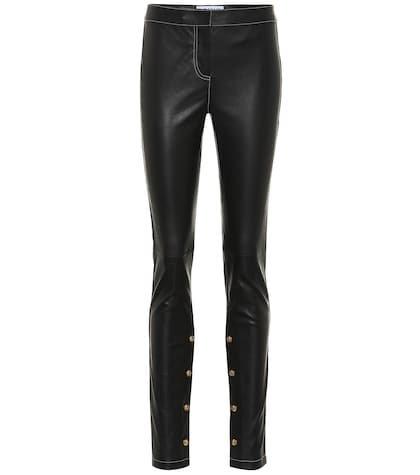 Embellished leather pants
