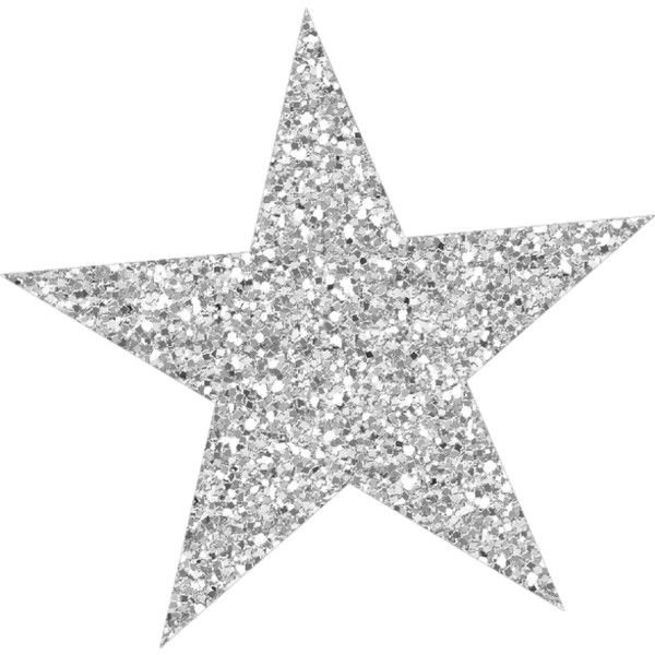 Silver sparkly star
