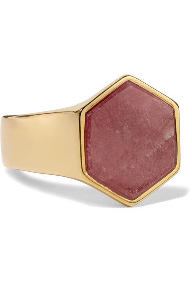 Isabel Marant | Golden Mother gold-tone zoisite ring | NET-A-PORTER.COM