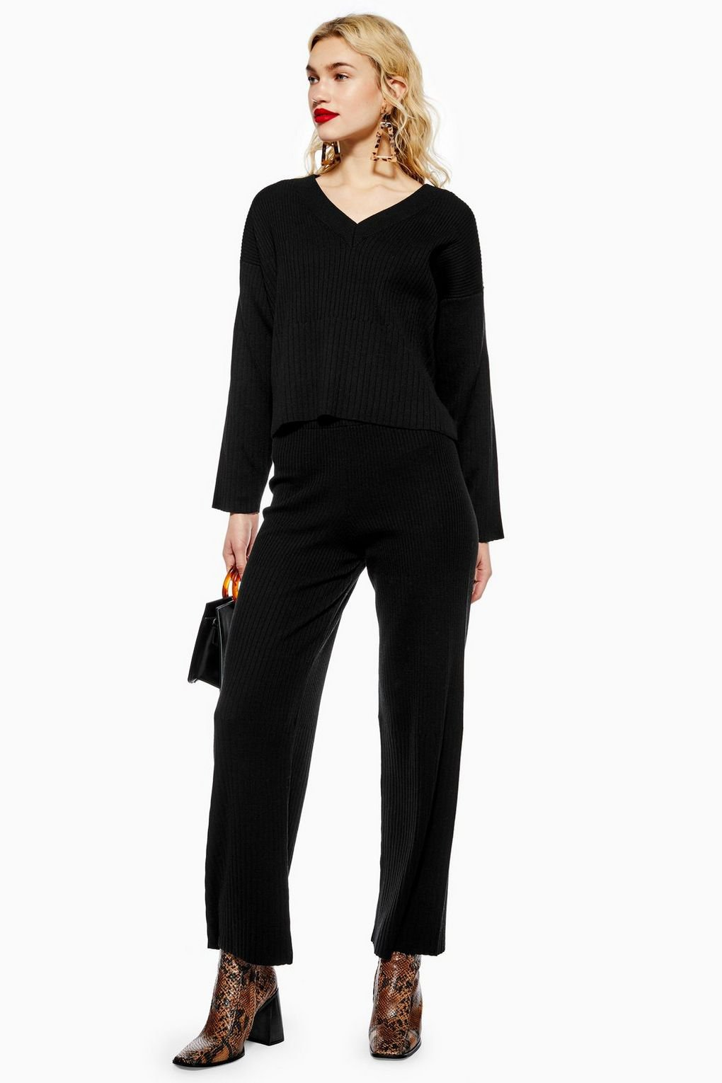 Ribbed Trousers - Topshop