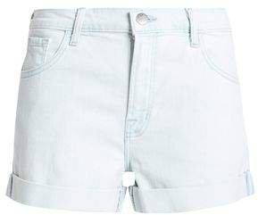 Two-tone Denim Shorts