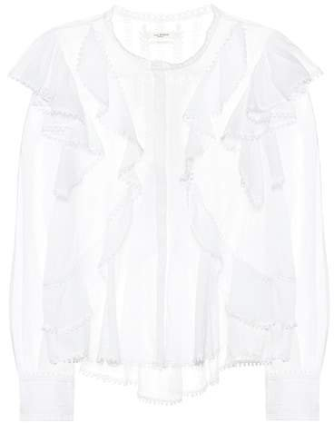 Isabel Marant, Étoile Alea embroidered cotton blouse