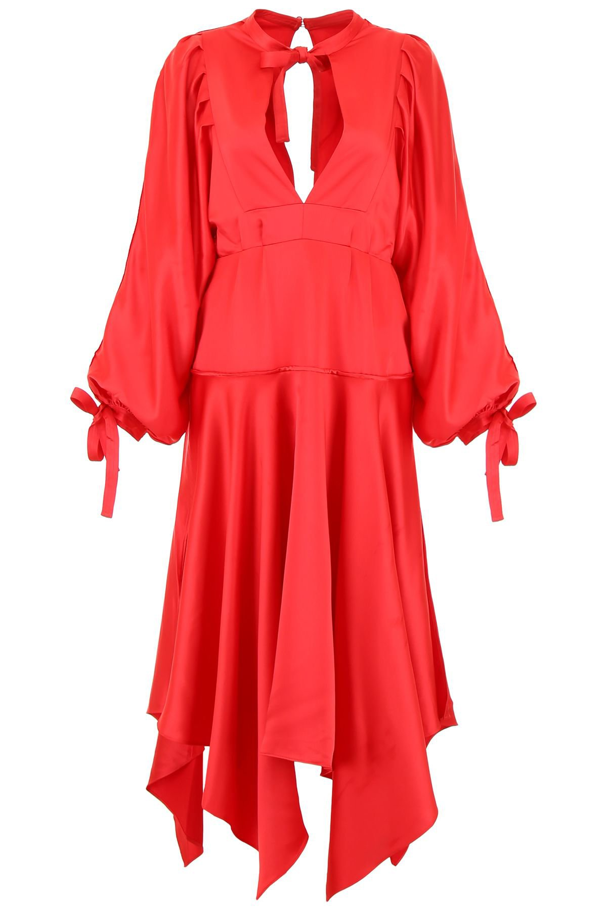 self-portrait Midi Satin Dress